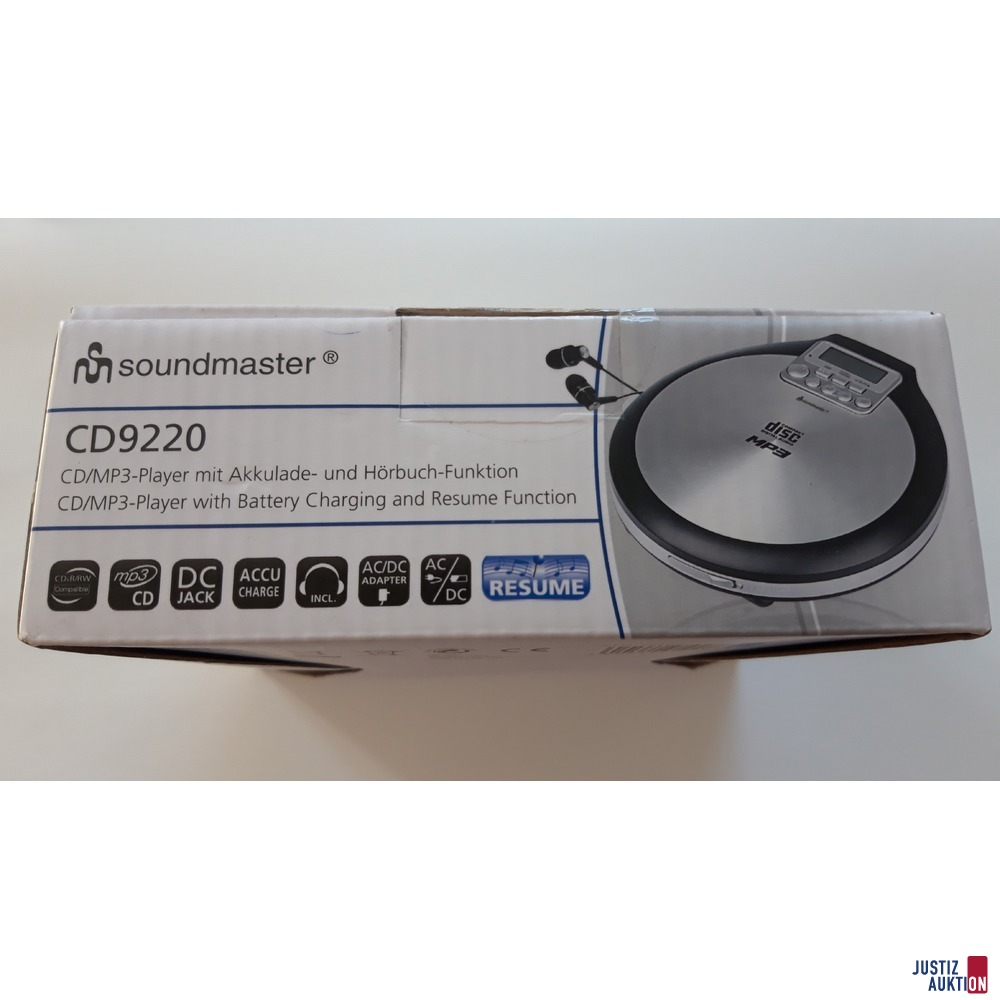Soundmaster CD 9220 CD/MP3 Player